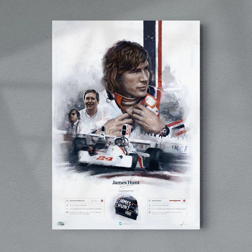 James Hunt Hesketh Racing Poster