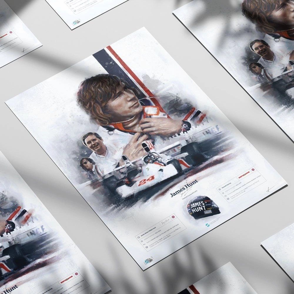Collection of motorsports posters