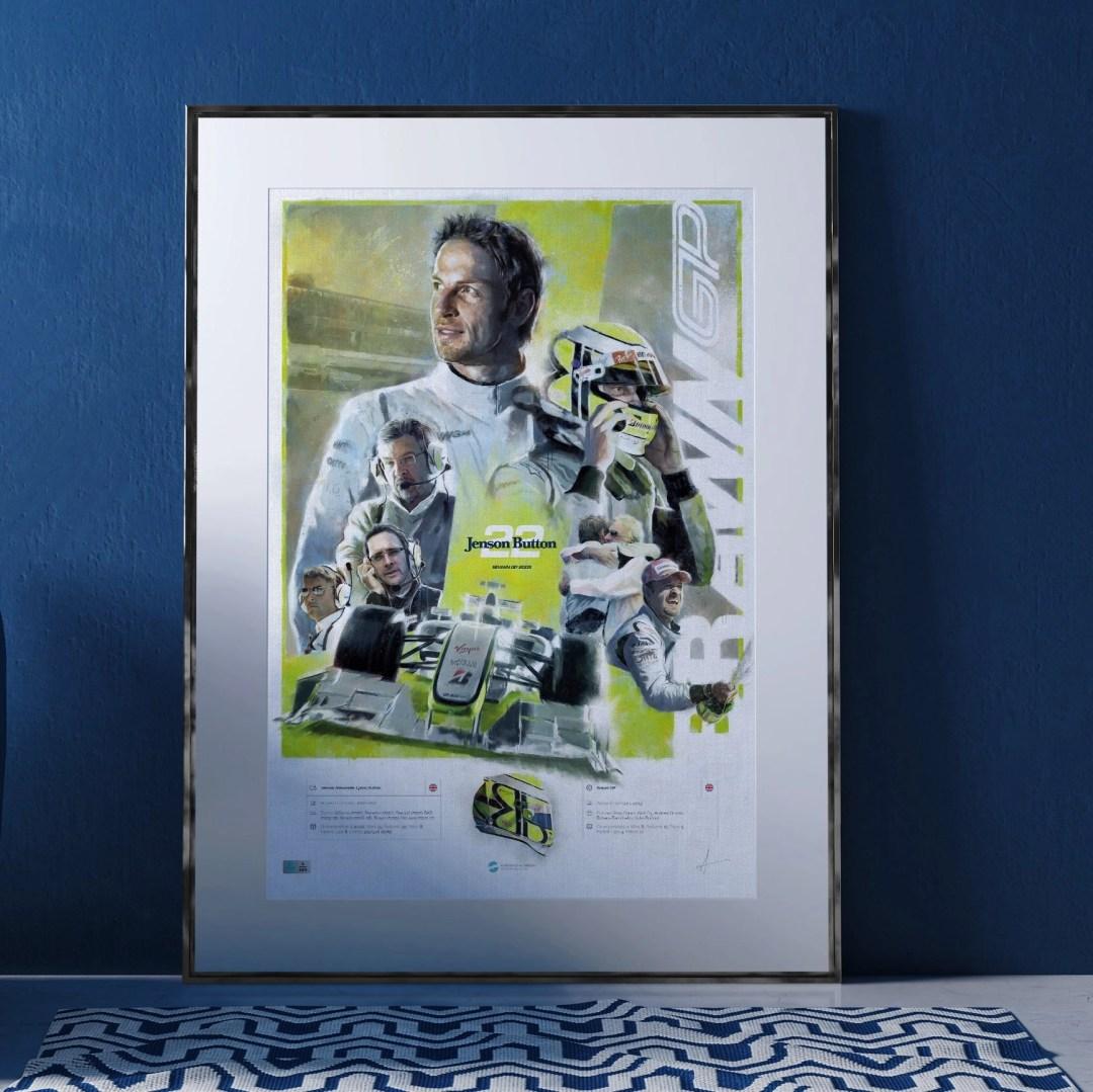 Ross Brawn Poster in Frame