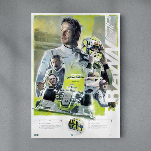 Jenson Button Brawn GP 2009 Poster