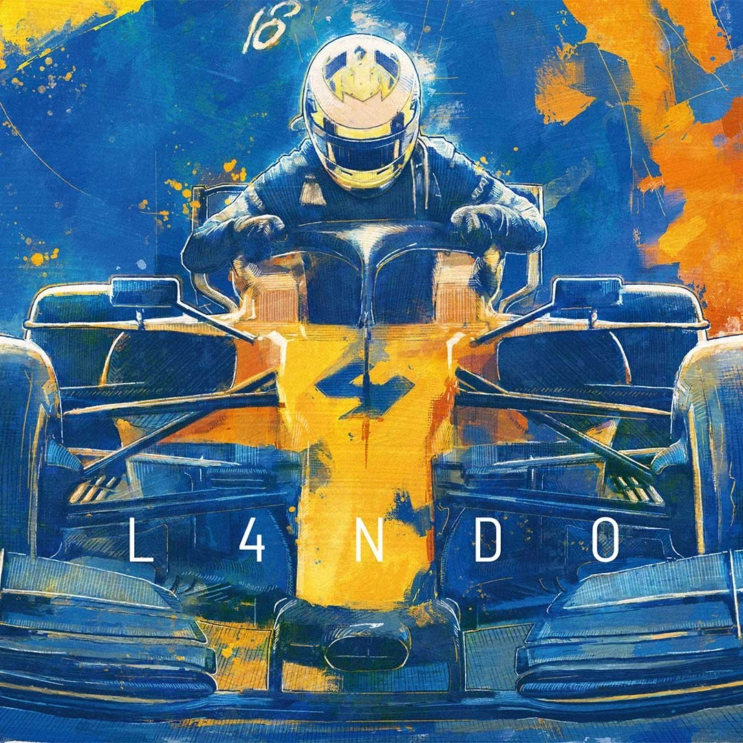 Lando Norris McLaren Artwork Detail