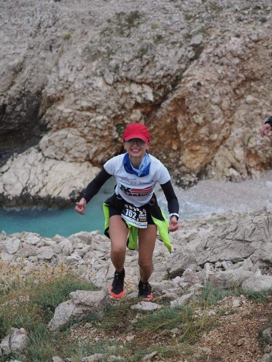 Alenka Horvat na Krk Island Trailu