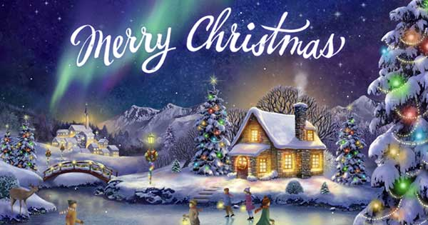 Christmas Spirit Interactive Christmas ECard Blue