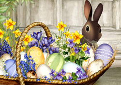 Happy Easter Easter Basket E Card By Jacquie Lawson