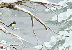 Happy Birthday A Winter Scene E Card By Jacquie Lawson