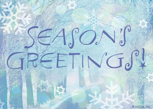 Seasons Greetings Seasons Greetings ECard Blue