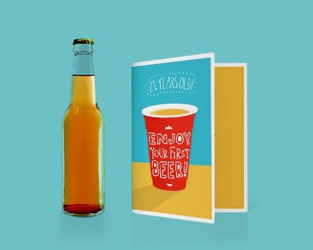 Beer Card Printable Card - Funny Birthday Printables