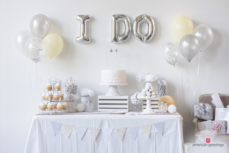 White Themed Bridal Shower Party Ideas