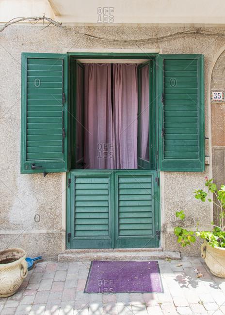 front door light stock photos offset