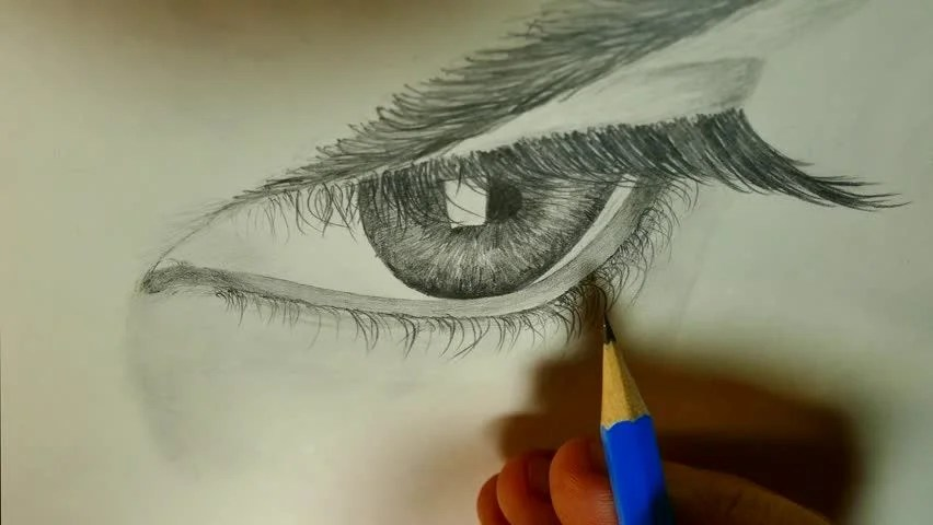 The Art Of Drawing With Stock Footage Video 100 Royalty Free 1019363506 Shutterstock