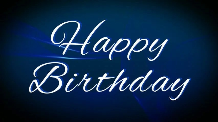 White Happy Birthday Text Calligraphy Stock Footage Video 100 Royalty Free 1022030341 Shutterstock