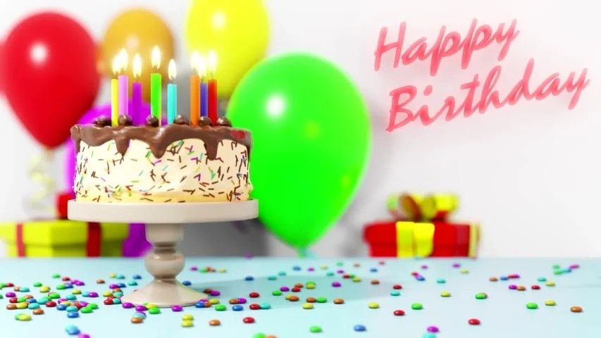 Happy Birthday Cake Balloons And Stock Footage Video 100 Royalty Free 1033585544 Shutterstock
