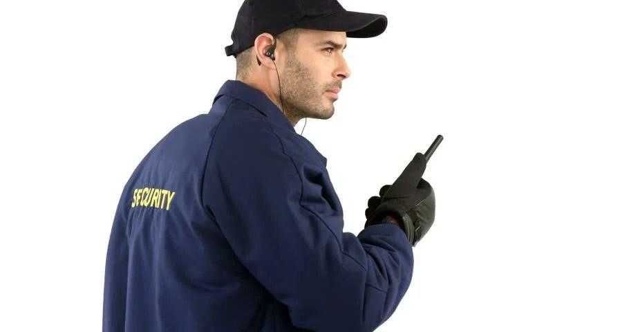 Security Guard Talking On Walkie Stock Footage Video (100% Royalty-free)  20304214   Shutterstock