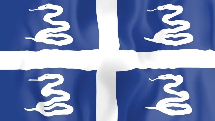Images Caribbean Sea Martinique Flag