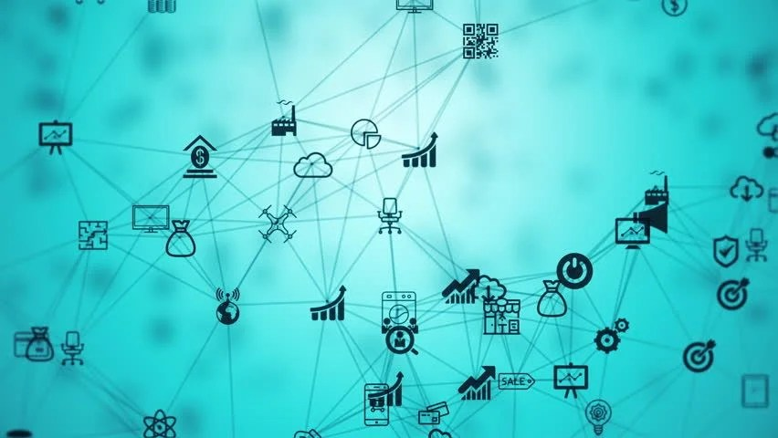 Internet Of Things Background From Stock Footage Video