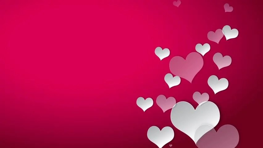 Valentines Day Cute White Heart Stock Footage Video 100