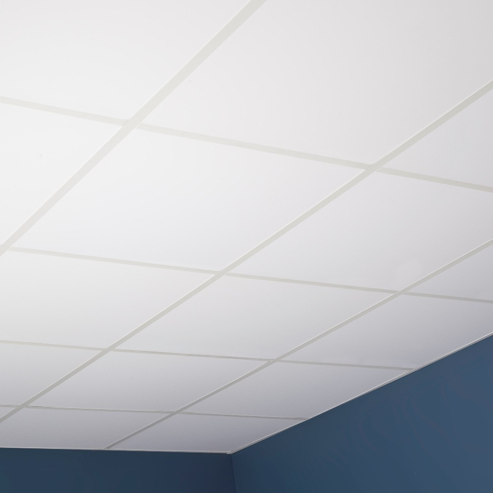 genesis smooth pro white lay in ceiling tile