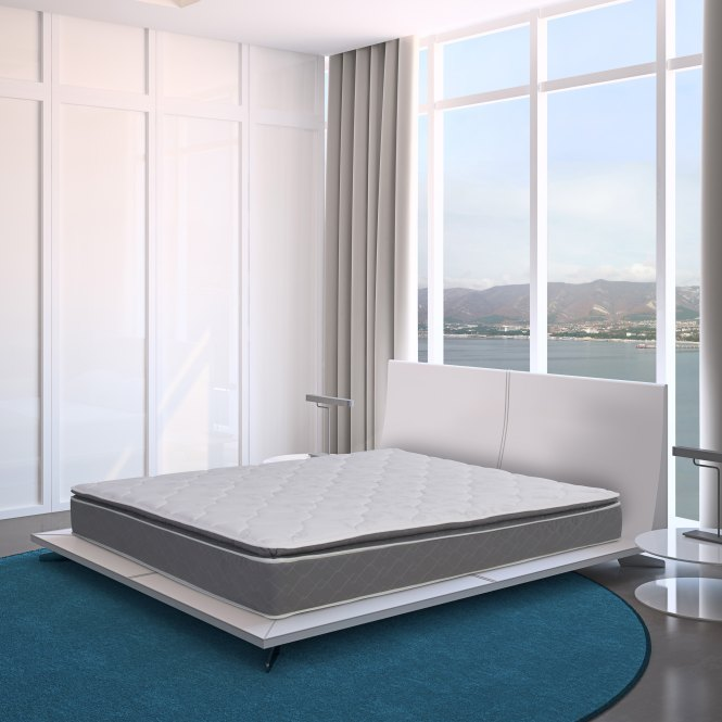 Blissful Journey Rv Pillow Top Short Queen Size Innerspring Mattress Bed In A Box Free Shipping Today 18463168