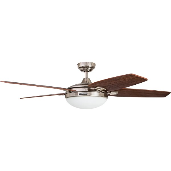 Shop 48  Honeywell Carmel Brushed Nickel Ceiling Fan with Integrated     Shop 48  Honeywell Carmel Brushed Nickel Ceiling Fan with Integrated Light  and Remote   Free Shipping Today   Overstock com   16000064