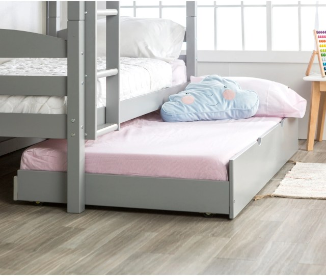 Taylor Olive Christian Wood Roll Out Twin Trundle Bed Frame