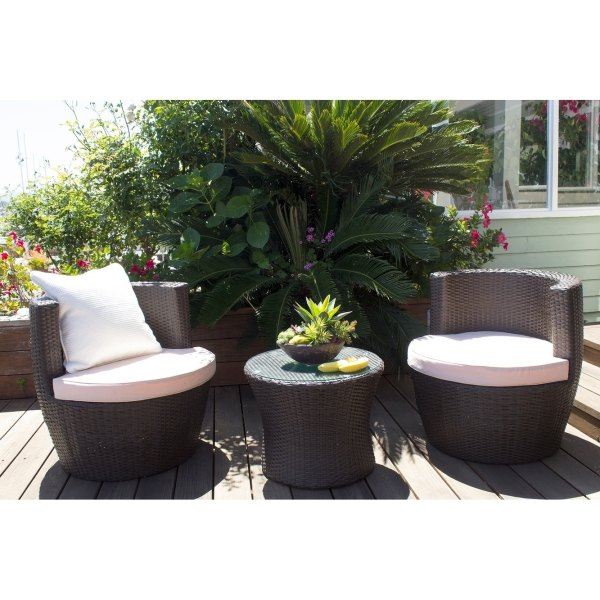 Shop Ibiza 2 Piece Outdoor Barrel Chair and End Table Set   Free     Shop Ibiza 2 Piece Outdoor Barrel Chair and End Table Set   Free Shipping  Today   Overstock com   19983242