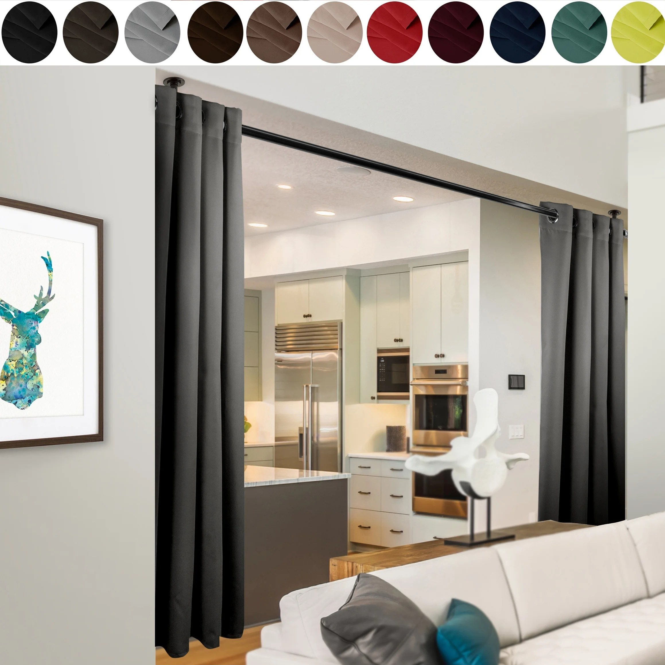 Shop Instyledesign 96 H Room Divider Curtain With Grommet 1 Panel On Sale Overstock 20303957
