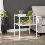Terrarium White Shadowbox Display End Table Overstock 22860229