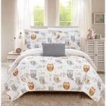 Chic Home Strix 4 Piece Reversible Quilt Set Cute Owl Design On Sale Overstock 22869700