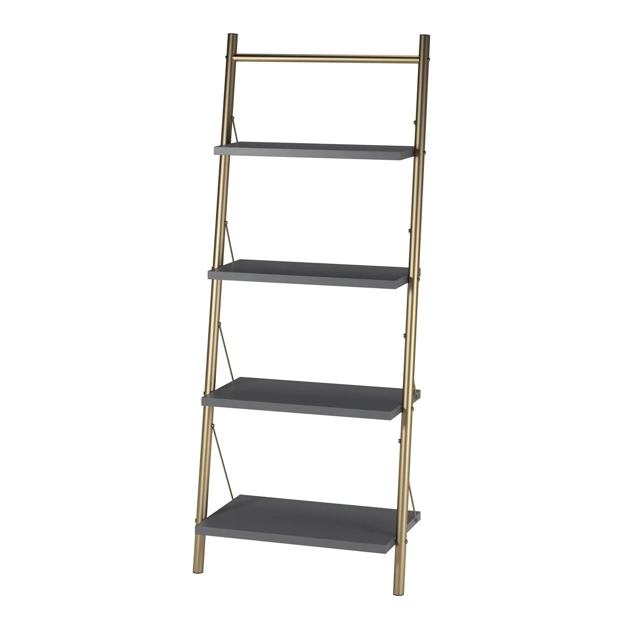 Cosmoliving By Cosmopolitan Nova 4 Shelf Ladder Bookcase