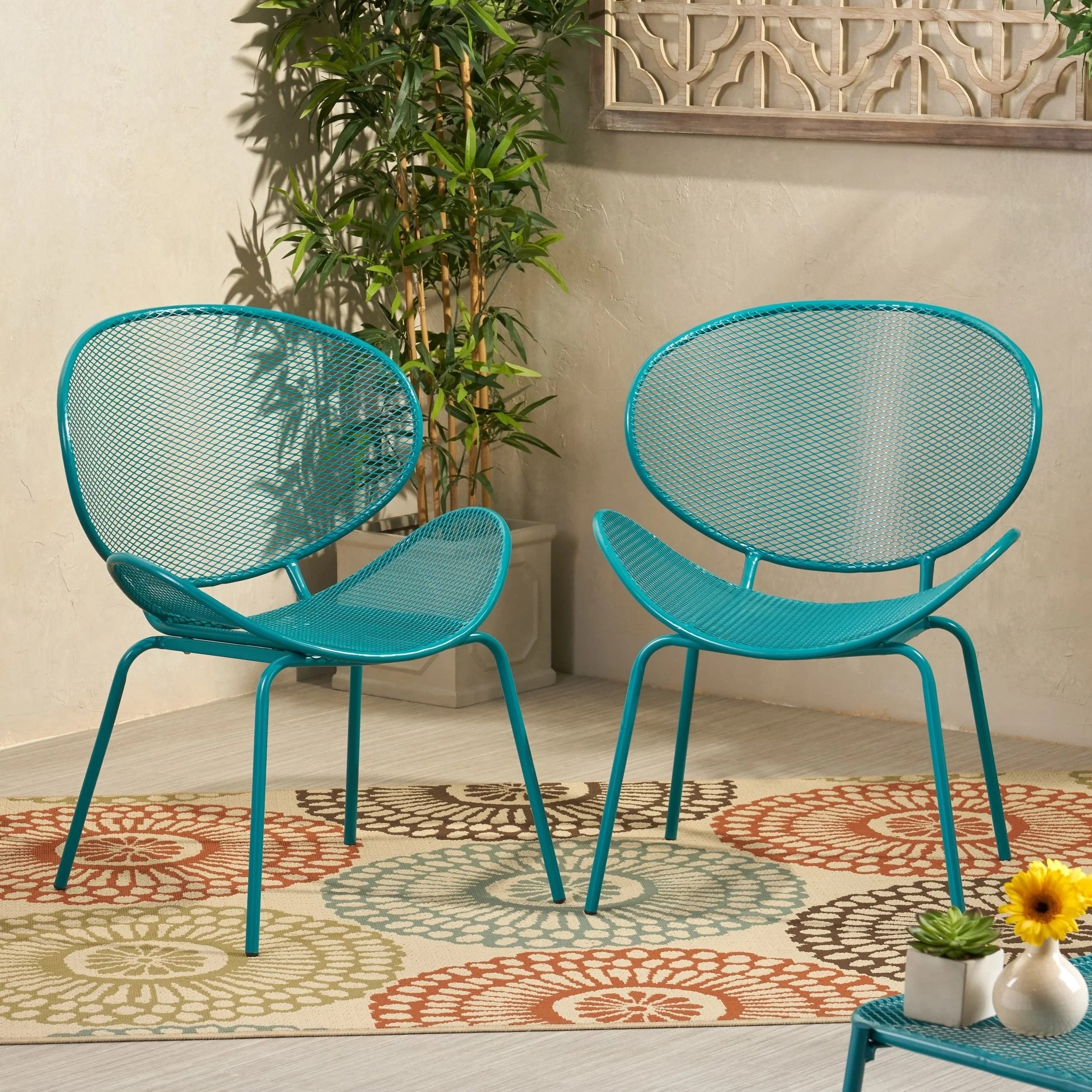 elloree outdoor dining chair set of 2 by christopher knight home
