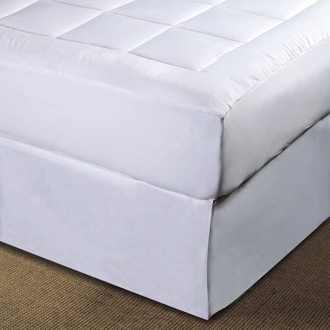 Luxurious Microplush Pillow Top Mattress Pad Free Shipping Today 11446847