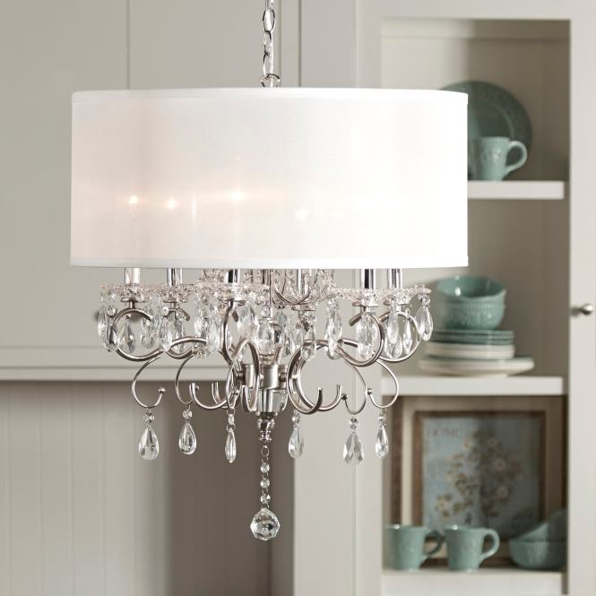 Silver Mist Hanging Crystal Drum Shade Chandelier By Inspire Q Classic Free Shipping Today 13689270