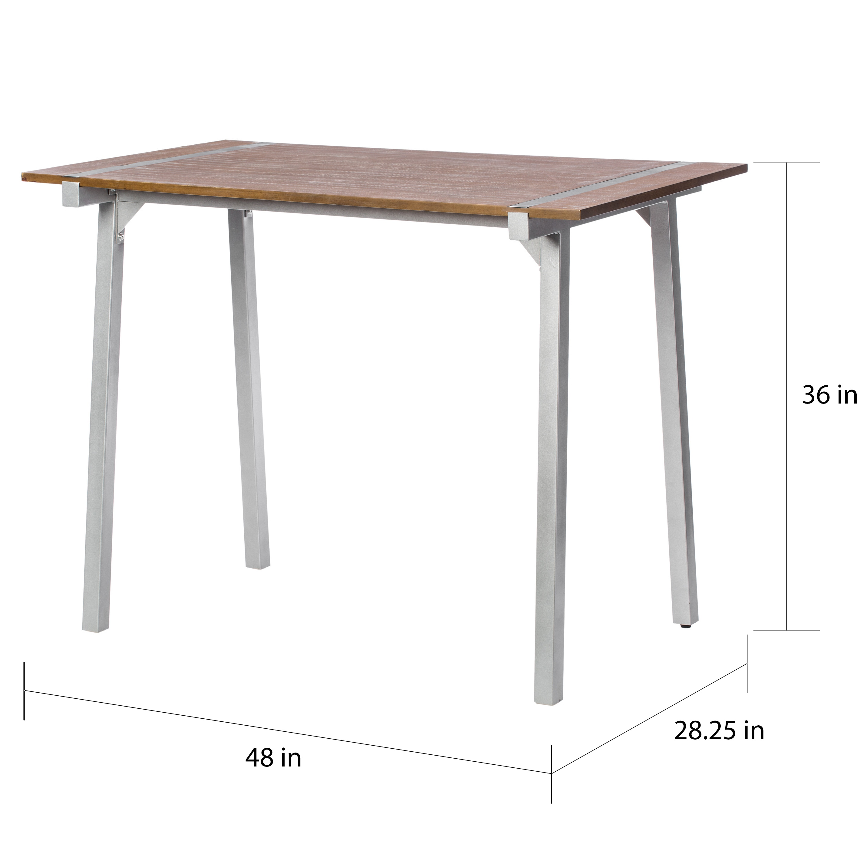 shop tabouret metal and wood table free shipping today overstock com 6713417