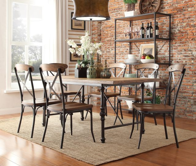 Nelson Industrial Modern Rustic Cross Back Dining Chair By Inspire Q Classic Set Of  Free Shipping Today Overstock Com