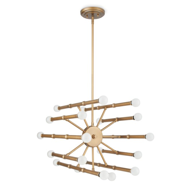 Bali Goldtone 22 Light Chandelier Free Shipping Today 16602871