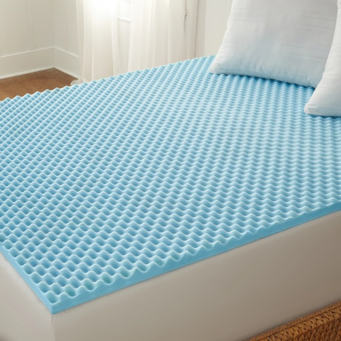 Arctic Sleep Cool Blue 1 5 Inch Memory Foam Twin Size Mattress Topper Free Shipping On Orders Over 45 16827098