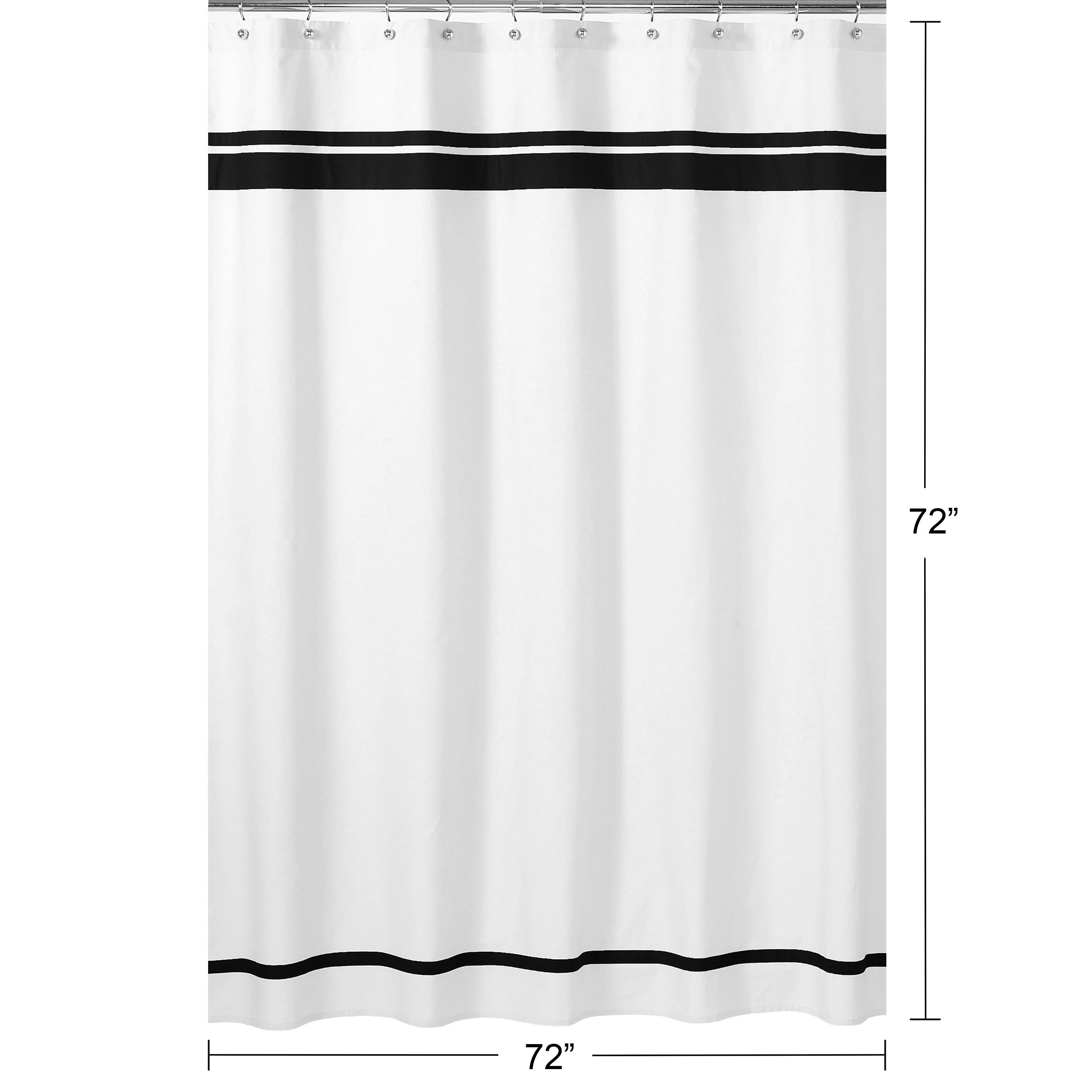 sweet jojo designs white and black hotel shower curtain