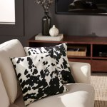 Faux Cow Hide Print Accent Pillows Set Of 2 By Inspire Q Bold On Sale Overstock 8057997