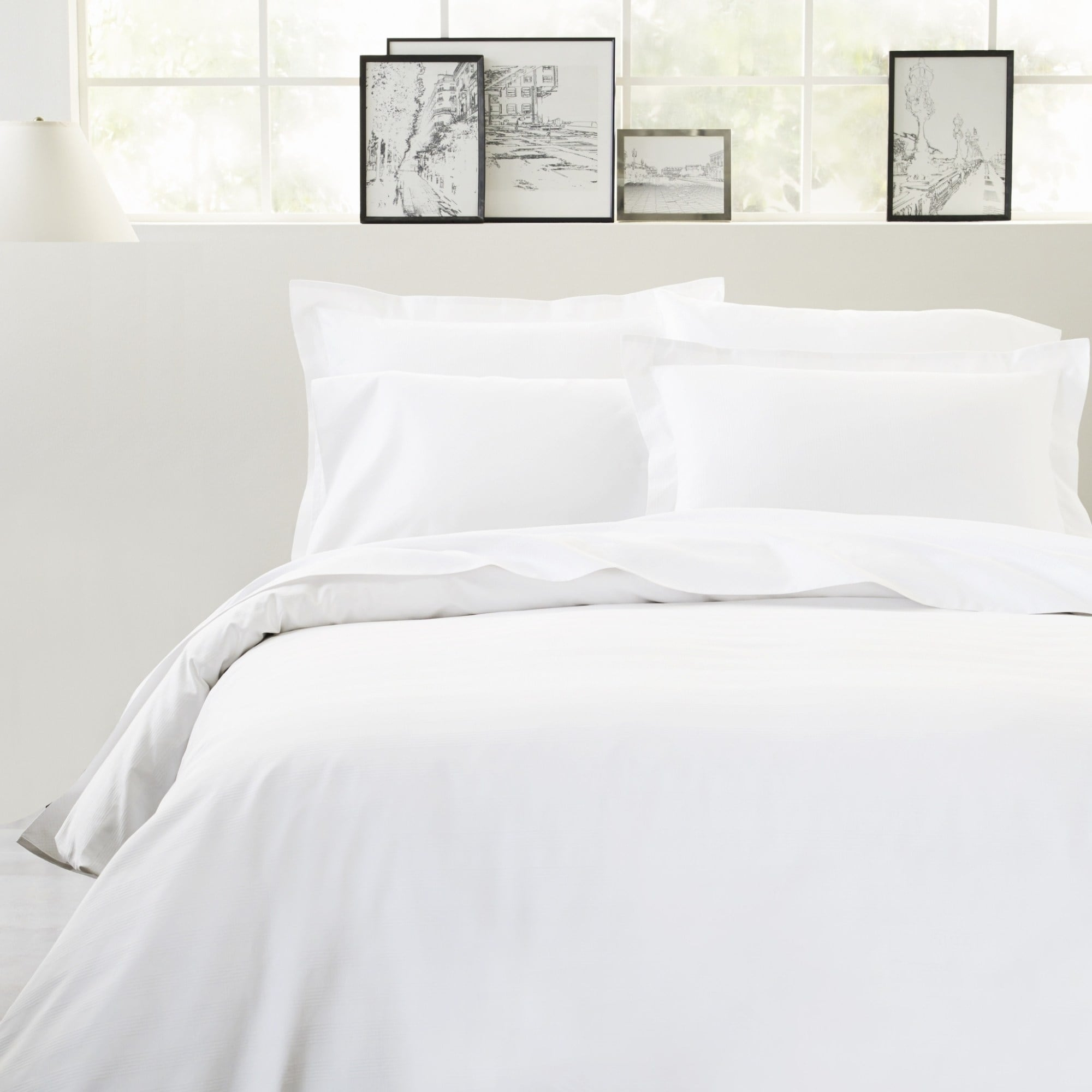 Thread Count Queen Fitted Sheet White