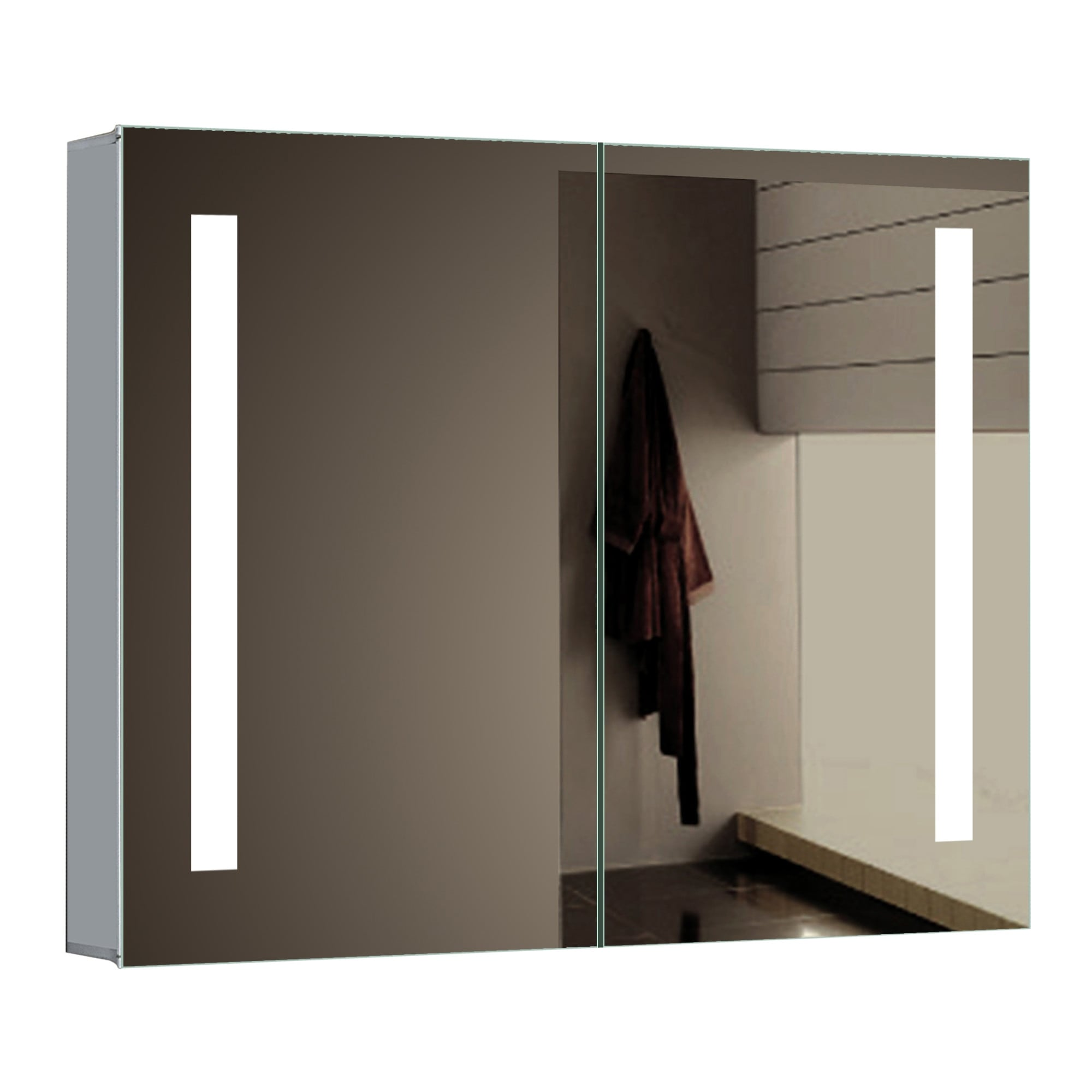 Shop Miseno Mmc3026led 30 W X 26 H Rectangular Frameless Wall Mounted Medicine Cabinet With Led Lighting Mirrored N A Free Shipping Today Overstock 17325787