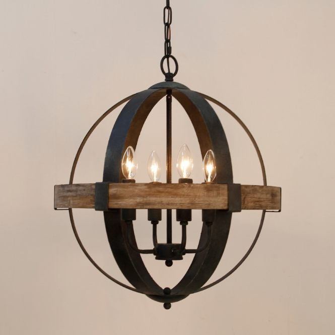 Castello 4 Light Wood Orb Chandelier Free Shipping Today 25455932