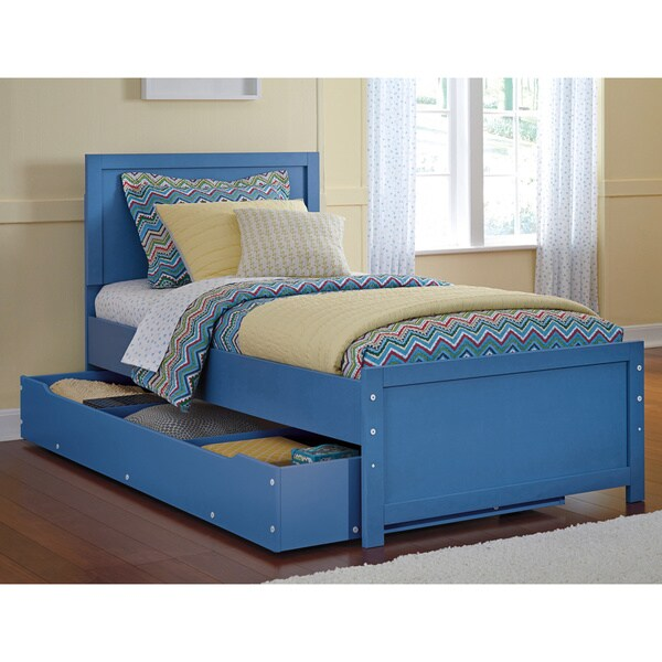 Signature Design By Ashley Bronilly Metal Blue Twin Bed