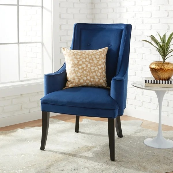 Accent Navy Chair White And