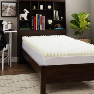 Slumber Solutions Dorm Highloft 3 Inch Twin Xl Size Memory Foam Mattress Topper