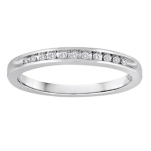 Shop Platinaire Sterling Silver 1 2ct TDW Diamond Solitaire Bridal     Platinaire 1 10ct TDW Diamond Wedding Band
