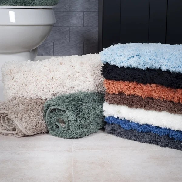windsor home 3-piece plush non-slip bath rug set - free shipping