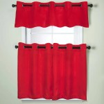 Modern Subtle Texture Solid Red Kitchen Curtain Parts With Grommets Tier And Valance Options On Sale Overstock 10199192 36 X 58 Tier Pair 100 Polyester