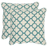Shop Safavieh Sandre Teal Throw Pillows 20 Inches X 20 Inches Set Of 2 Overstock 10215086