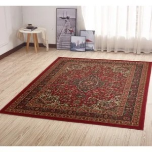 Non Slip Rugs   Area Rugs For Less   Find Great Home Decor Deals     Ottomanson Ottohome Persian Heriz Oriental Design with Non Skid Rubber  Backing Area Rug  5