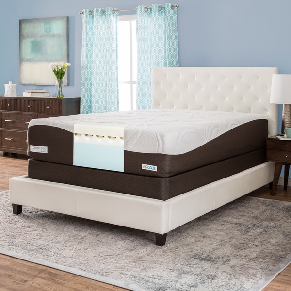 Comforpedic From Beautyrest 14 Inch Queen Size Gel Memory Foam Mattress Set